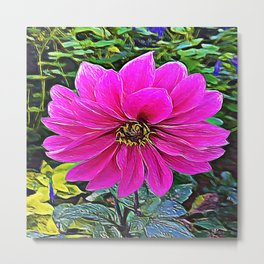 Pink Flower of Delicate Balance Metal Print