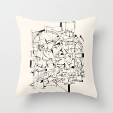 Mess Throw Pillow