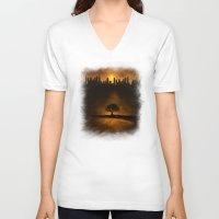 velvet underground V-neck T-shirts featuring underground energy by Viviana Gonzalez