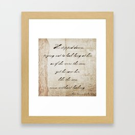 Anna Karenina Quote  As if she were the sun by Leo Tolstoy Framed Art Print