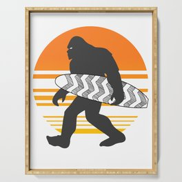 Bigfoot Surfing, Hide Seek and Go Surf  Serving Tray