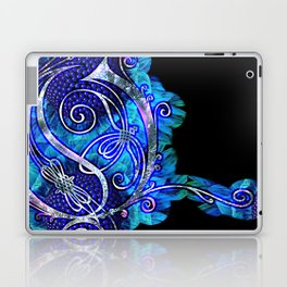LATTICE LETTER O - night water Laptop & iPad Skin