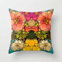discount Throw Pillows featuring Perky Flowers! by Love2Snap