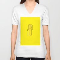 kill bill V-neck T-shirts featuring Kill Bill | Famous Costumes by Fred Birchal