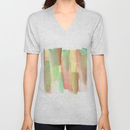 [161228] 21. Abstract Watercolour Color Study |Watercolor Brush Stroke Unisex V-Neck