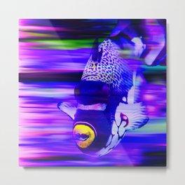 ANGEL FISH Violet Purple Metal Print