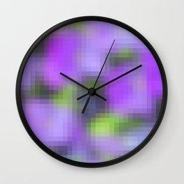 pixelated watercolor XI Wall Clock