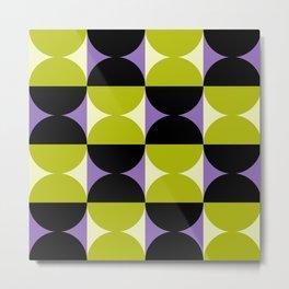Mid Century Modern Geometric Abstract Pattern 737 Metal Print