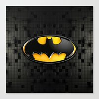 bat man Canvas Prints featuring BAT MAN by BeautyArtGalery