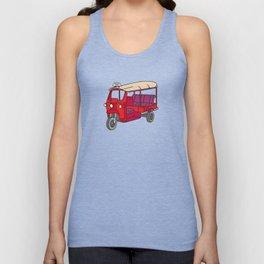 Red tuktuk / autorickshaw Unisex Tank Top