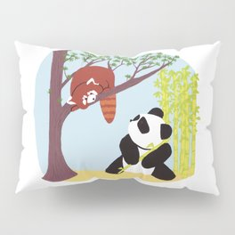 Puzzled Pandas Pillow Sham