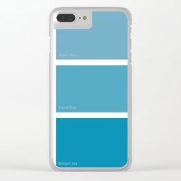 Liquid Blue Clear iPhone Case