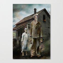 H.P. Lovecraft The Dunwich Horror -- Lavinia and Wilbur Canvas Print