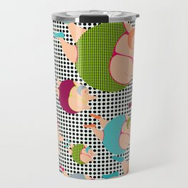 Synchronised Spotty Swimmers Travel Mug