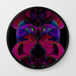 Electricity in the Orchid Petals Wall Clock