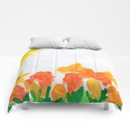 Watercolor Floral Series B Comforters