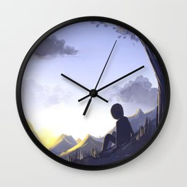 In the morning light Wall Clock