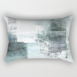 Atmospheric Contemporary Abstract Landscape Painting Rectangular Pillow