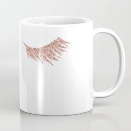 Pretty Lashes Rose Gold Glitter Pink Coffee Mug