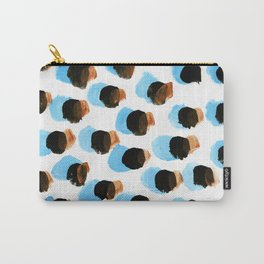 Abstract Blue Blots pattern Carry-All Pouch