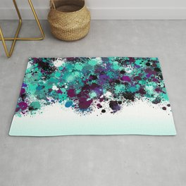 paint splatter on gradient pattern bbtpb Rug