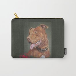 True Love - Red Nose Pitbull Terrier Carry-All Pouch