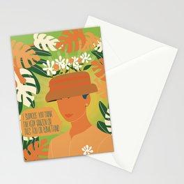 audrey hepburn flower hat Stationery Cards