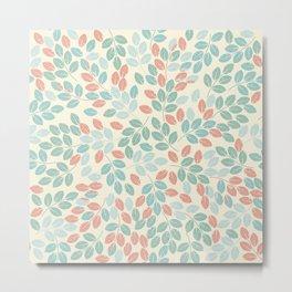 Elegant pattern with tender leaves Metal Print