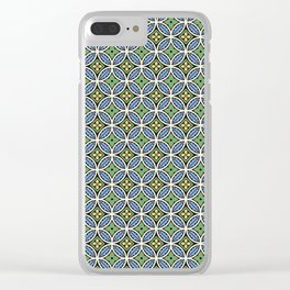 70s Tile Clear iPhone Case