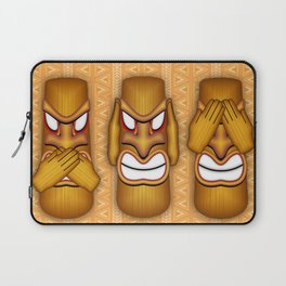Don't See Don't Hear Don't Speak Totems Laptop Sleeve