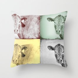 Here's Looking at Moo Throw Pillow