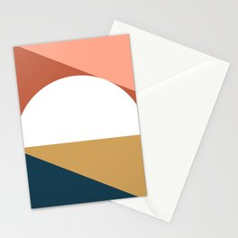 Mid Century Modern Sunset Nº1 Stationery Cards
