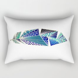 Geometric Feather Rectangular Pillow