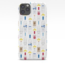 Vodka Bottles Illustration iPhone Case