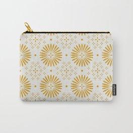 Happy Sunshine - yellow art, sunshine, boho art, bohemian, tile, home decor, yellow, yellow art print Carry-All Pouch