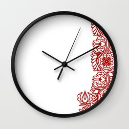 HUNGARIAN EMBROIDERY Wall Clock