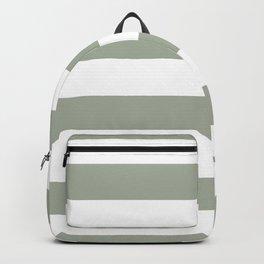 Large Desert Sage Grey Green and White Cabana Stripes Backpack