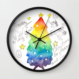 May Your Christmas be Merry and Gay! Wall Clock