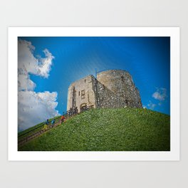 York, Cliffords tower in plastic Art Print