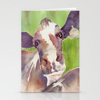 cow Stationery Cards featuring cow by Michele Petri
