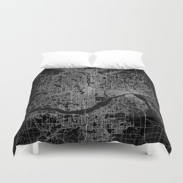 minneapolis map Duvet Cover