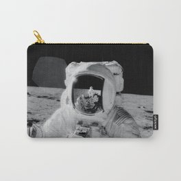 Apollo 12 - Face Of An Astronaut Moon Selfie Carry-All Pouch