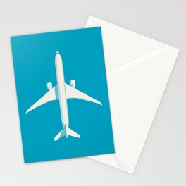 777 Passenger Jet Airliner - Cyan Stationery Cards