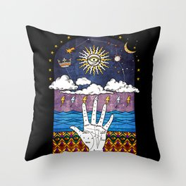 Esoteric prayer Throw Pillow