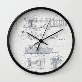 Electric Guitar 2 Wall Clock