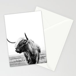 Highland Cow Art Stationery Cards