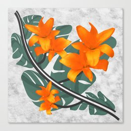 The Orange Wanderers Story Canvas Print