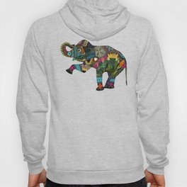asian elephant white Hoody