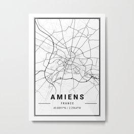Amiens Light City Map Metal Print