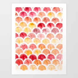 Scallop pattern Art Print